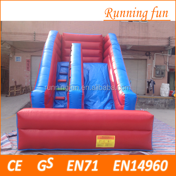 New popular Top quality Inflatable Wet Dry slide, spiderman inflatable Slide