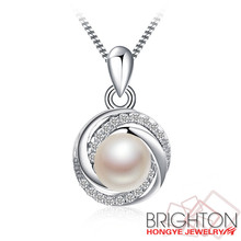 BRIGHTON natural freshwater pearl 925 sterling silver necklace fantasy jewelry ,Natural flower freshwater pearl necklace 6-19-