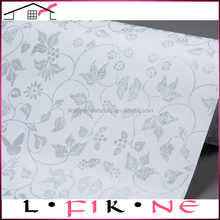 China closeouts white vinyl silver flowers giltter wallpaper for hotels