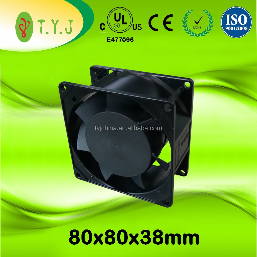 "220v cooling fans 80x80x38mm 3.15x""3.15""x1.5"" ac cooling fans ac motor UL CE"