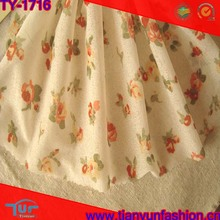 soft and thin textured high quality fashion polyester floral knit fabric for garment