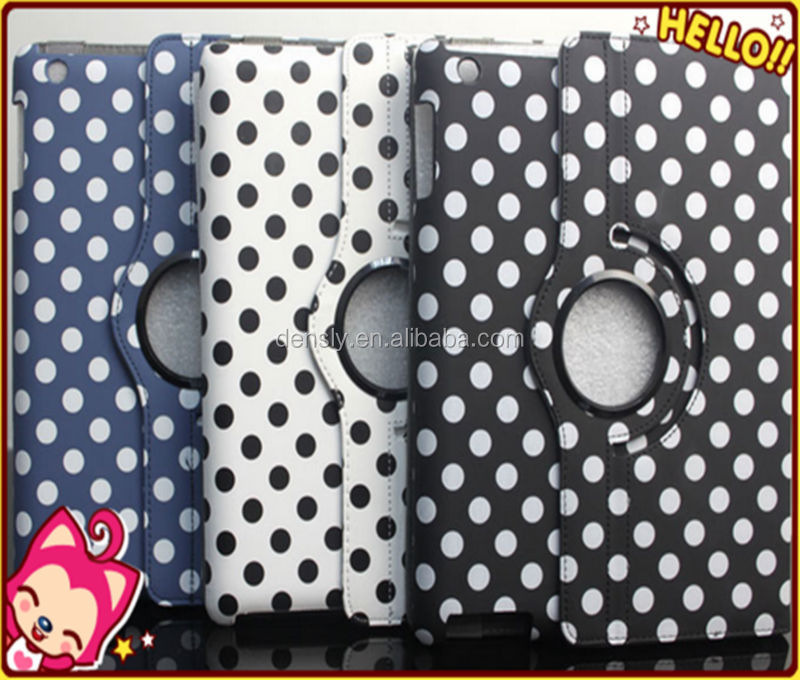 Wholesale polka dot leather case for ipad air case