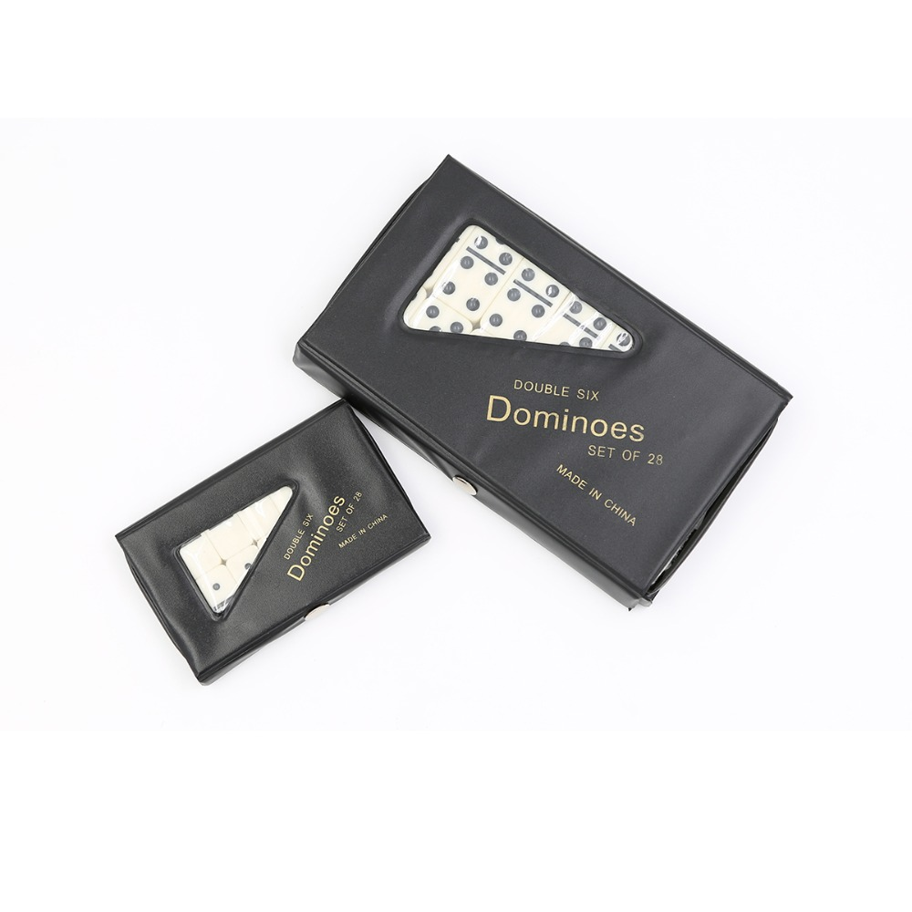 Domino blocks Double Six Dominoes Set Of 28 in PVC Carry Case Traditional Travel Game Toy Mini