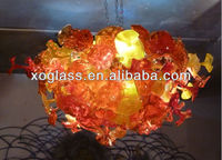 Hotel glass lighting Crystal Chandelier blown chandelier trumpet flower glass chandelier xo-20140410