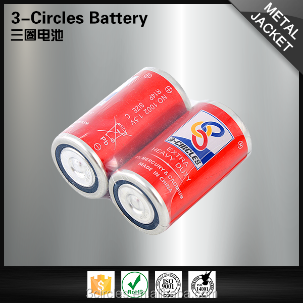 3-CIRCLES manufacturers um2 1.5v c size R14P dry cell non-rechargeable battery
