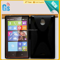 X Line Style Flexible TPU Gel Case Cover For Nokia X2 Dual SIM 1013