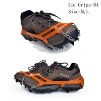 Promotion Silicone Crampons Spike-Chain Ice Snow Cleats Peaks Spikes Hiking Walking Hunting Outdoor