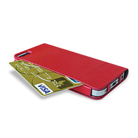 Discount promotion Ozaki leather phone case with card slot for iPhone 5s phone case