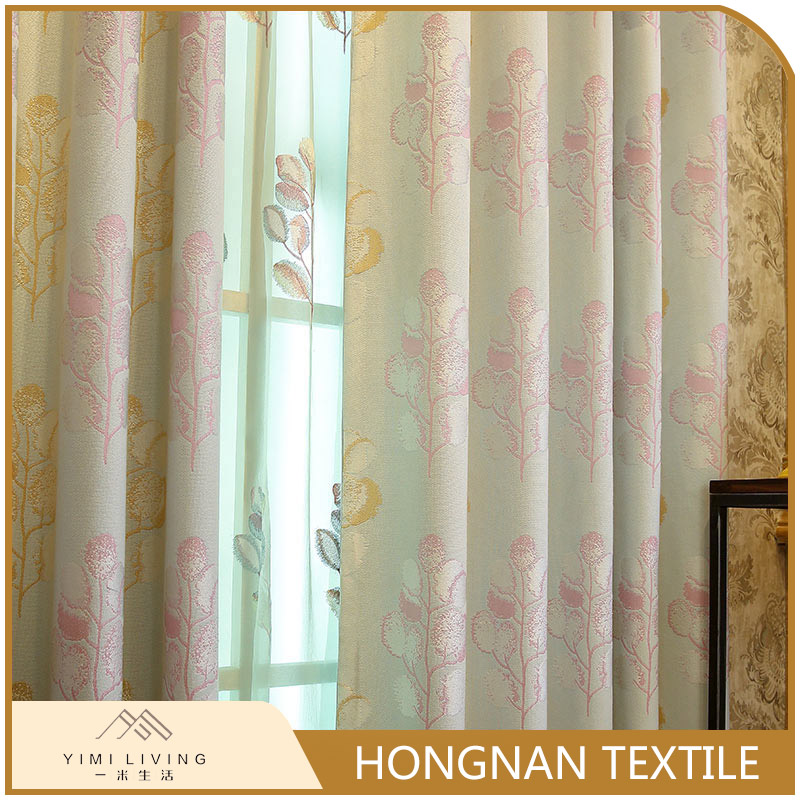 2017 popular wholesale jacquard blackout curtain designs for bedroom