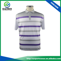 OEM type Full sublimated printing stripes design mens Dry fit golf polo shirts with your own logo