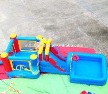 Hot sale Cheap inflatable water slide with pool for kids