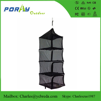 4 layers coarse mesh portable hanging dry rack dry net