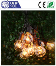 25 Pack G40 Outdoor Lighting Patio Christmas Globe String Lights Shape Replacement Bulbs