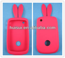 high quality custom lovely red rabbit silicone 5c case suitable for Iphone