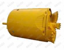Single cut belling rock drilling bucket for foundation drilling tools