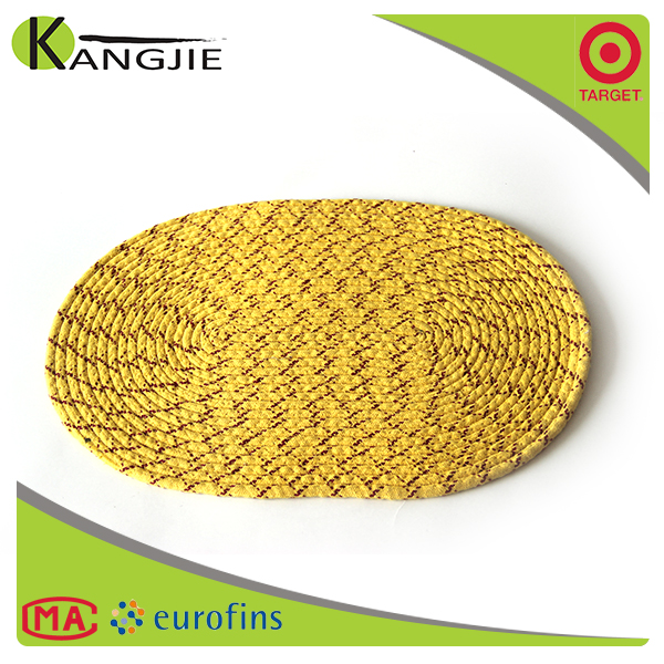 100% cotton china imports wholesale oval placemat