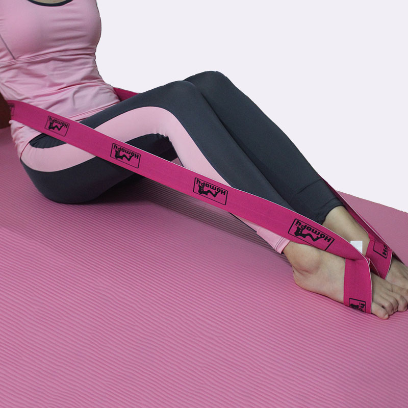 China high quality woven polyester elastic yoga stretch strap for sport