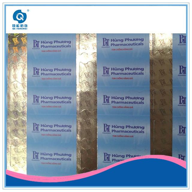 Hot stamping anti-fake fragile paper adhesive sticker