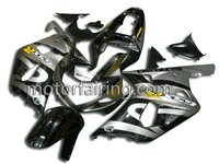 Injection ABS motorcycle fairing kits body work aftermarket accessories for Suzuki gsxr 600 750 2003 2001 black/silver