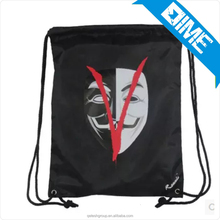 Cheap Shopping Fashion Balck Custom Popular Drawstring Backpack