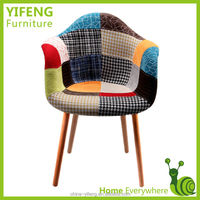 beautiful flower multicolored fabric plastic chair (factory manufacturer)