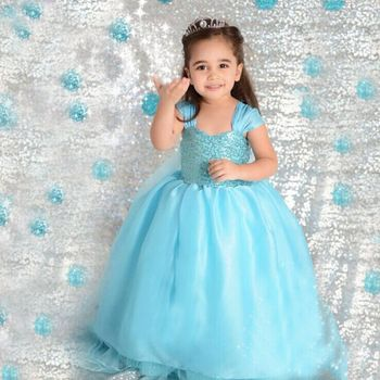 (Top) Frozen Elsa Dress Wholesale, Frozen Dress, Elsa Dress for Kids Cosplay Costume in Frozen
