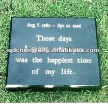 Black granite pet memorials stone