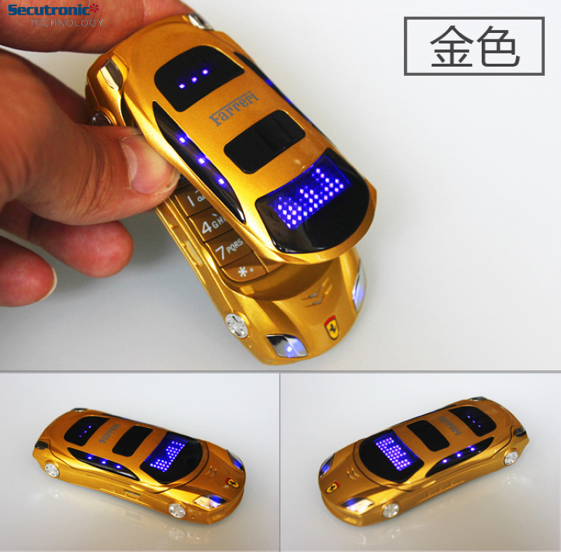 Setro F15 GSM Cell For Kids 1.8 inch Shaped Mini Mobile 1500 mAh Car Shape Smart Phone