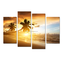 Modern Sunrise Seascape Painting Stretched Canvas Painting Art For Wall Decor
