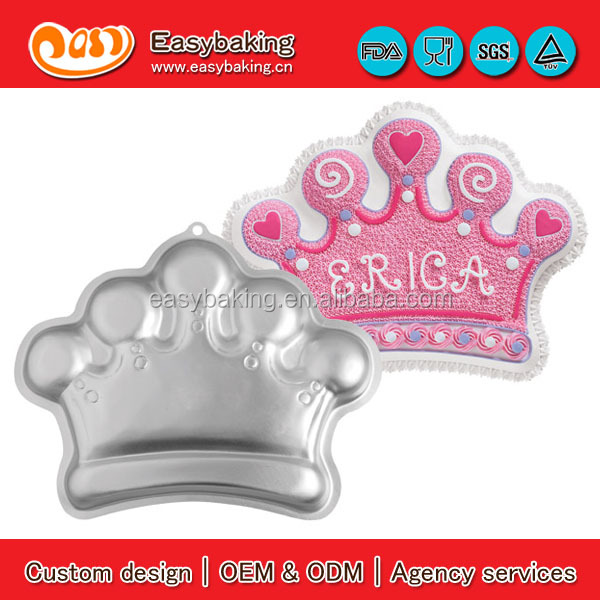 King Queen Princess Crown Cake Tin Baking Aluminium Pan