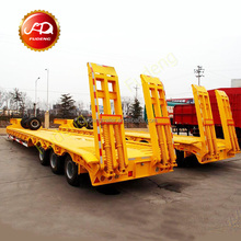 Cheap 40-100 tons low bed semi trailer price , dolly semi-trailer