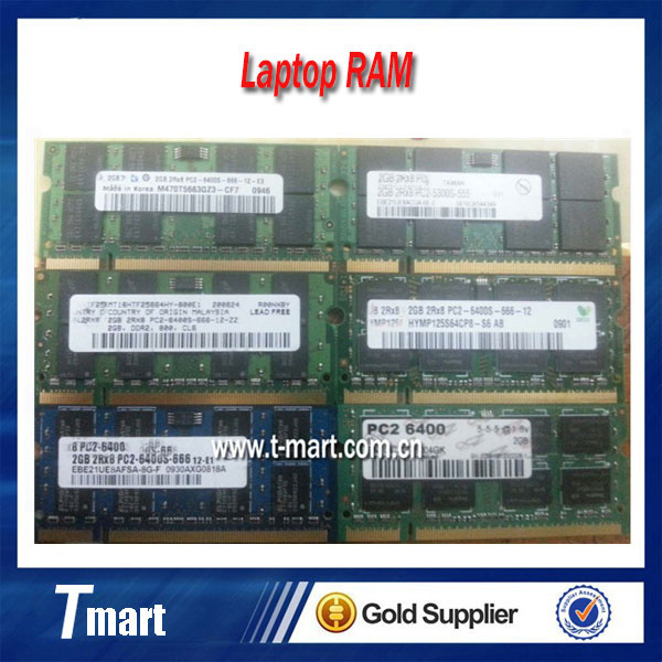 100% working and high quality original DDR2 2g 667 800 second-generation laptop memory