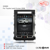 New multimedia for TOYOTA LAND CRUISER LC200 2008-2015 12.1 inch vertical screen Android car dvd gps player