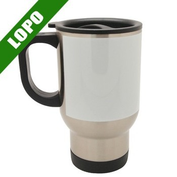 14oz custom blank sublimation stainless steel car mug white