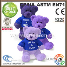 Classic cheap mini bear teddy toy wearing printing t-shirts
