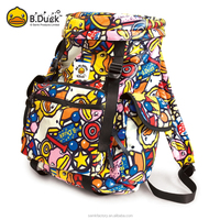 B.Duck promotional gifts bright color sports leisure backpack for girls