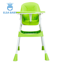 2018 New Aluminum and GFR-nylon Material Baby safety Dining Special Design Baby portable High Chair for kids