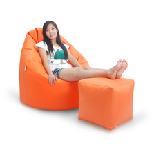 Highback Beanbag and adjustable Footstool for Indoors or Outdoors
