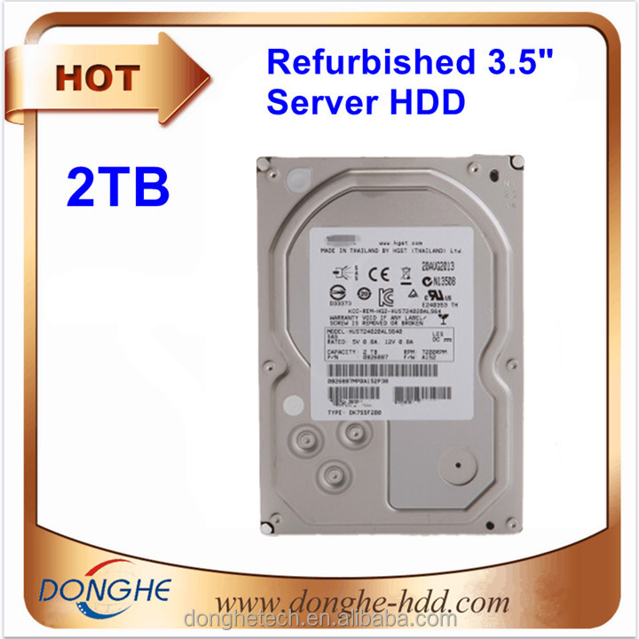 Enterprise Server Desktop Second Hand Refurbished HDD Sata 3.5 Hard Disk Drive 2 TB Harddisk
