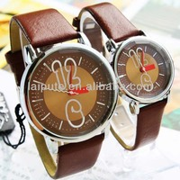 Trendy Fashion Style Lover Wrist Watch leather band Lover Watch