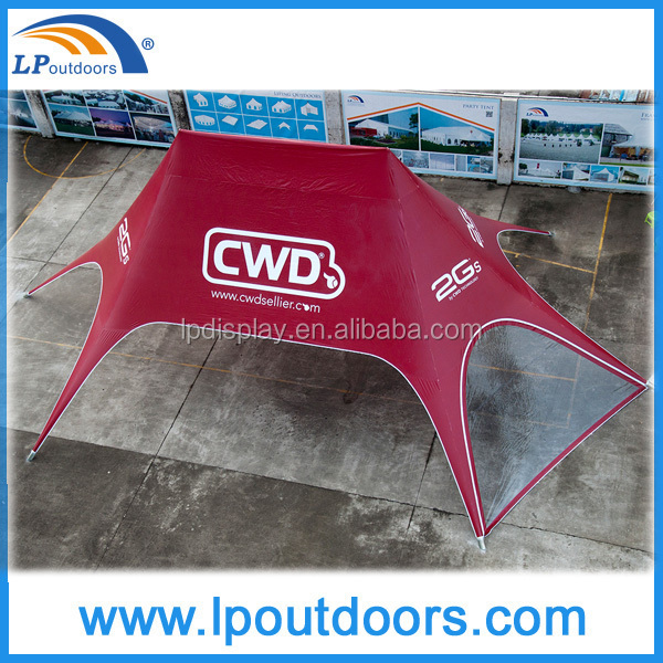 10x14m custom printing top peak star tent shelter tent with clear PVC sidewalls