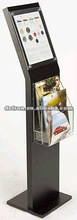 Metal display stand for brochure/leaflet/metal holder