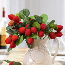 LF491 holiday favor high quality red fruit artificial strawberry for sale