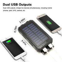 Power Bank 8000mAh Portable Dual USB Battery solar battery charger for mobile Phone