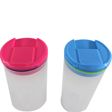 direct buy china <strong>flat</strong> water bottle glass drinking bottle sports protein shaker cup