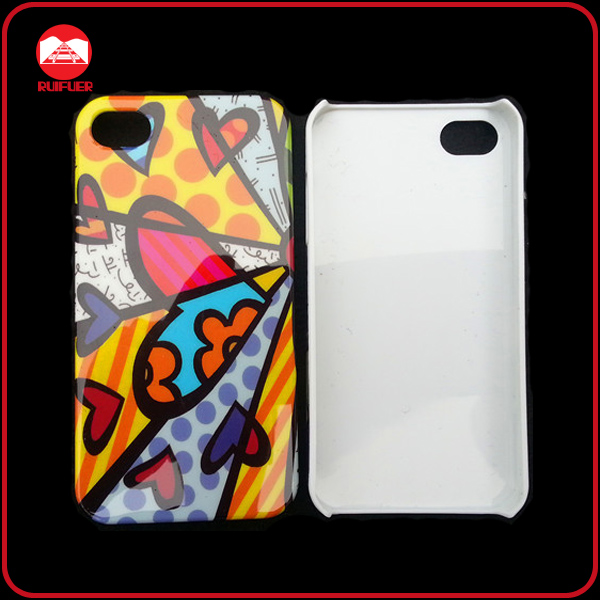 Hard Case, for iphone 4S Plastic Cover With Custom Logo Printed Via Silk-Screen Printing