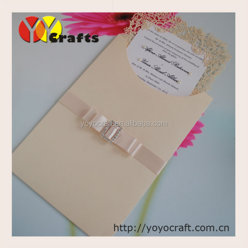 rose wedding cards elegant laser cut wedding invitation sleeves with envelope, insert