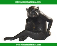 2015 high quality home decor bronze antique monkey statue