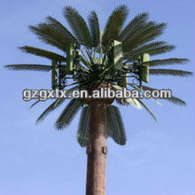 China Camouflage palm tree mobile communication station tower manufacturer,UAE communication project's partner