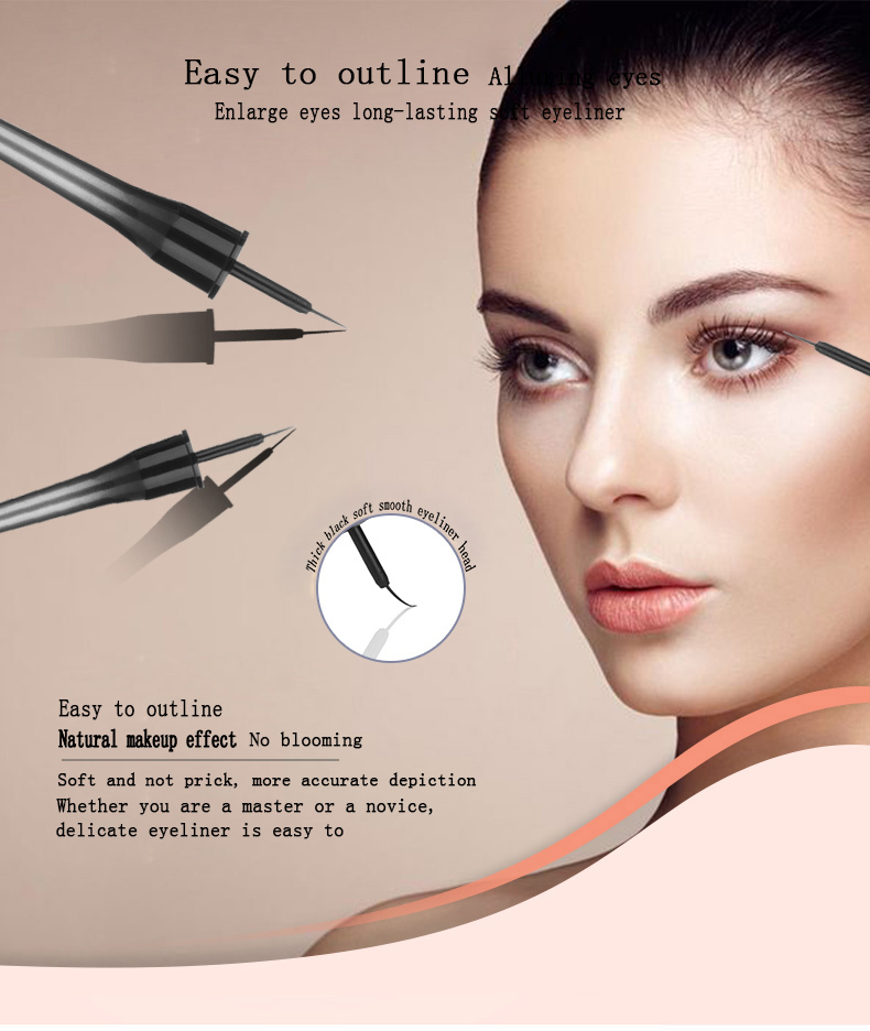 Newest Design Arabic Smooth Waterproof Eyeliner Makeup Eyeliner